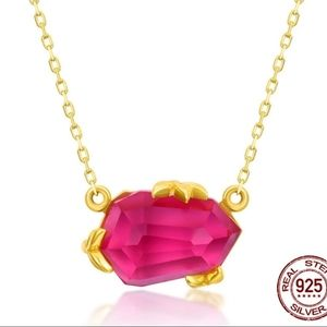 Pink Topaz Pendant Necklace